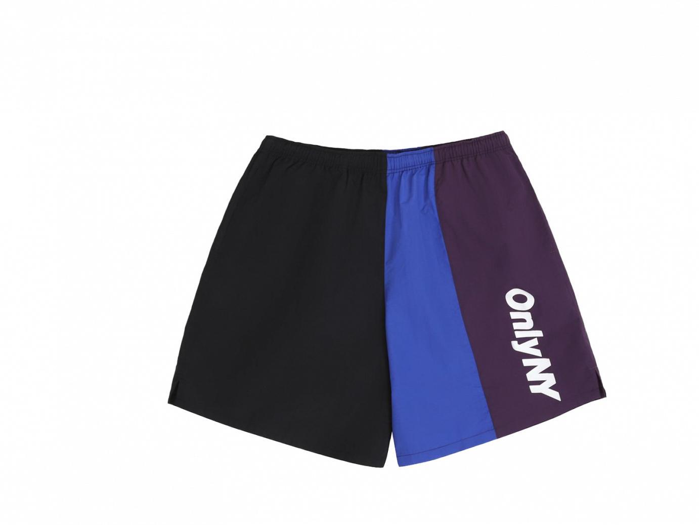color block track shorts